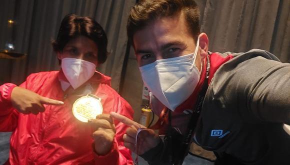 Noemí logró la medalla de oro en la Copa del Mundo en Bogotá. (Foto: Archivo personal)