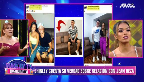 Shirley Arica reveló detalles de su pasado amoroso con el futbolista Jean Deza. (Foto: Captura Magaly TV: La Firme)