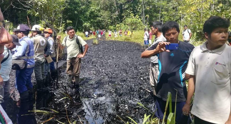 El derrame de petróleo ocurrió el martes 18 de junio, a la altura del kilómetro 237, en la comunidad nativa Nuevo Progreso. (Foto: Ministerio Público)