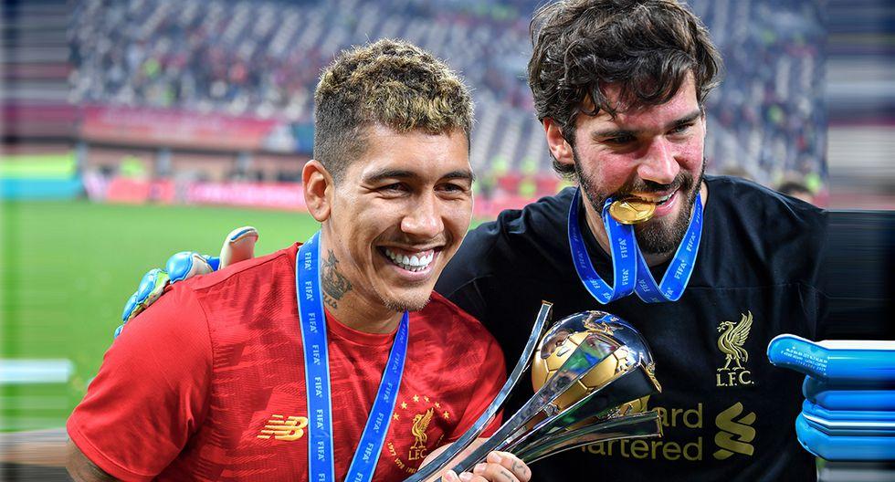 Roberto Firmino y Alisson Becker hicieron historia juntos este año. (Foto: AFP)