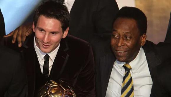 Pelé felicita a Lionel Messi por alcanzar un récord suyo de más goles con un mismo equipo