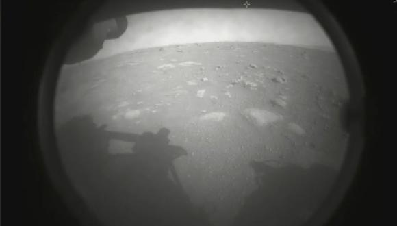 Primera imagen de Marte enviada por el rover Perseverance. (NASA)