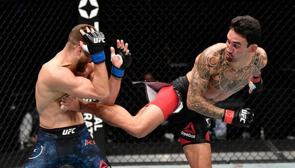 Max Holloway, en una gran pelea, venció a Calvin Kattar en el UFC Fight Island