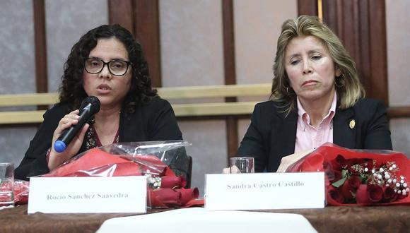Rocío Sánchez (izq.) asegura que la reunión fue en marzo y que la pidió Sandra Castro (der.). Esta última dice que fue en julio y la pidió Sánchez. (Foto: Archivo)