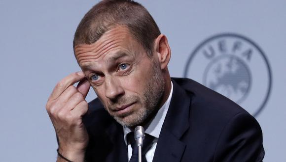 Aleksander Ceferin pone fecha límite para el cierre de la Champions League y la Europa League. (Foto: REUTERS/Yves Herman)