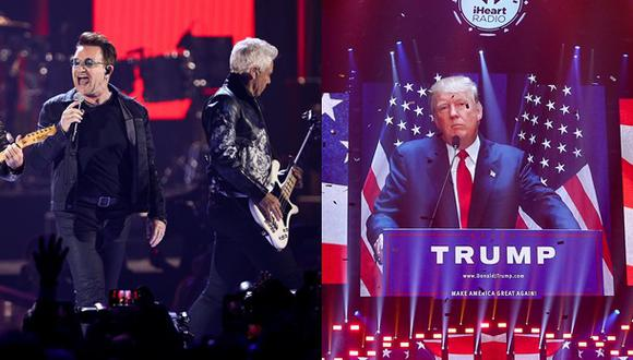 U2 criticó a Donald Trump durante concierto