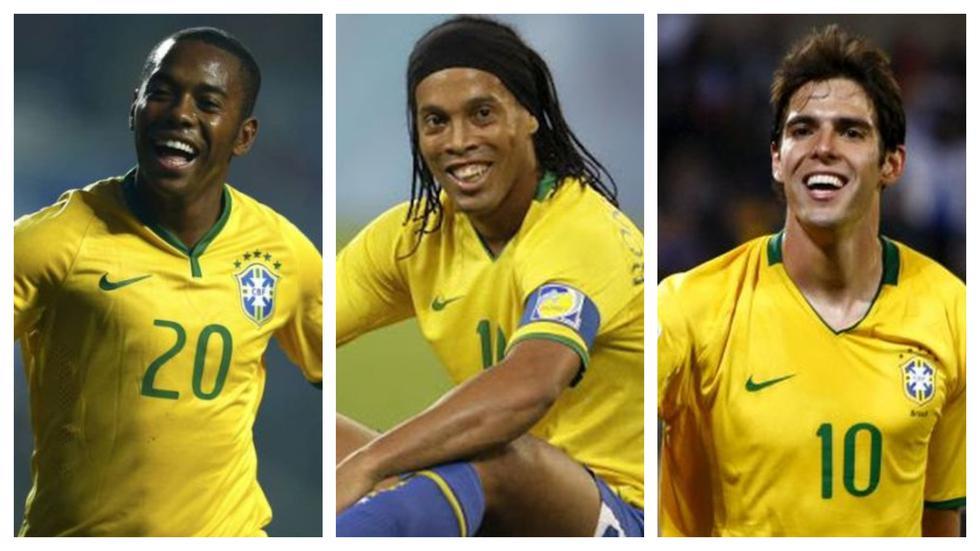 Robinho, Ronaldinho y Kaká (Foto: AFP)