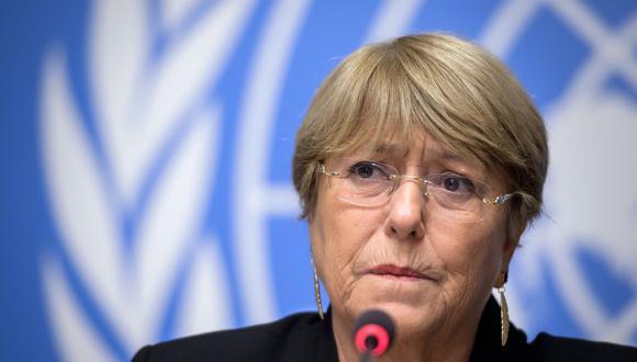 Michelle Bachelet, alta comisionada de Derechos Humanos de la ONU. Su oficina investigará la represión en el Perú. (Foto: FABRICE COFFRINI / AFP).