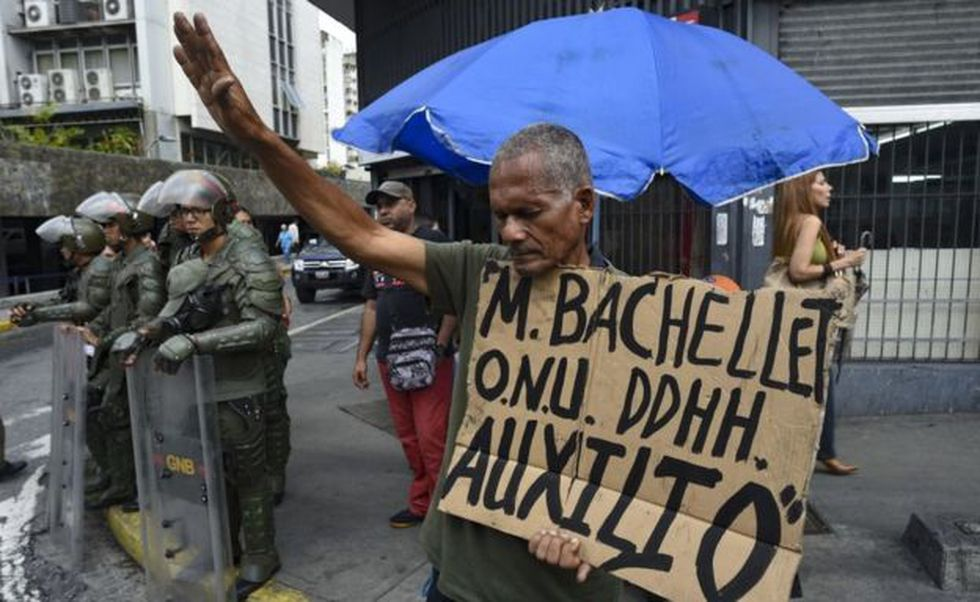 """Bachelet consideró en su visita que """"la situación en el país se ha deteriorado de manera extraordinaria"""". Foto: Getty images, vía BBC Mundo"""