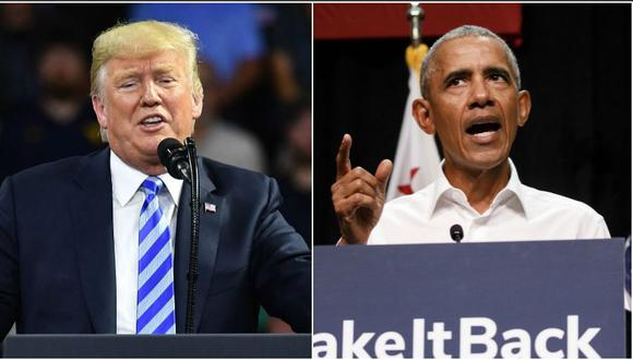 Según economistas, tanto Donald Trump como Barack Obama merecen parte del mérito en el auge de la economía estadounidense. (AFP / Bloomberg)