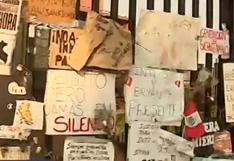 Centro de Lima: homenaje a Jack Pintado e Inti Sotelo deja cientos de mensajes frente a la Corte Superior | VIDEO