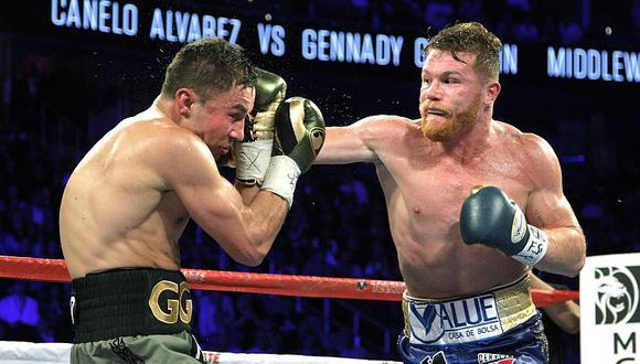 'Canelo' Álvarez dejó abierta la posibilidad de un tercer enfrentamiento con Gennadiy Golovkin. (AFP)