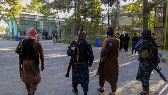 Imagen referencial. Las fuerzas talibanes se pasean por Kabul. EFE