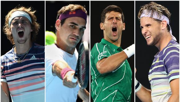 Entre estos cuatro tenistas saldrá el campeón del Australian Open. (Foto: AFP)