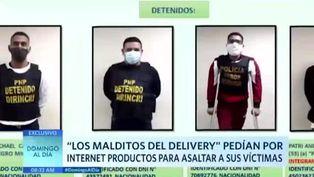 Delincuentes pedían productos por internet para asaltar