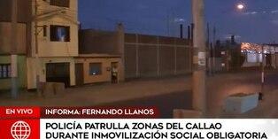 Coronavirus en Perú: Policía recorre zonas del Callao durante el estado de emergencia