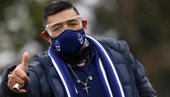Así acudió Maradona a las prácticas de Gimnasia. (Foto: Gimnasia y Esgrima)