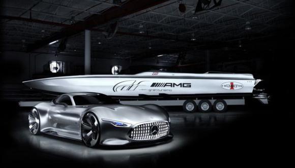 Bote inspirado en el  Mercedes-Benz AMG Vision Gran Turismo