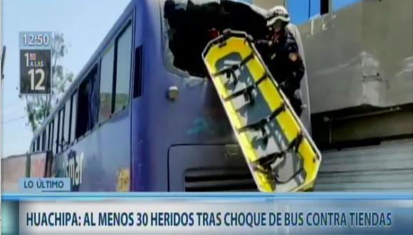 Accidente en Huachipa deja varios heridos. (Captura: Canal N)