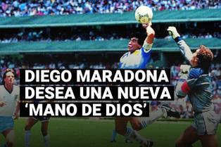 """Maradona quiere otra 'Mano de Dios', ahora con la derecha: """"Sueño marcar otro gol a ingleses"""""""