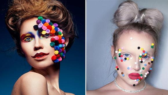 Esta tendencia en maquillaje es conocida como 'Pompom makeup'.