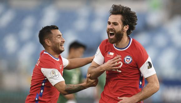 El anglochileno Ben Brereton fue titular por primera vez en Chile y se estrenó con gol (Foto: AFP)
