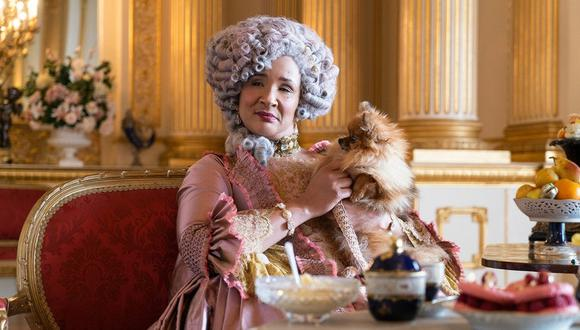 "La reina Charlotte en ""Bridgerton"" (Foto: Netflix)"