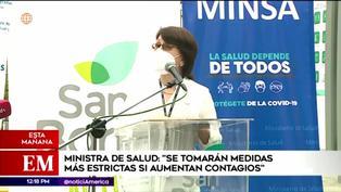 """Ministra de Salud advierte que si las circunstancias lo ameritan se tendrán que """"tomar medidas más estrictas"""""""