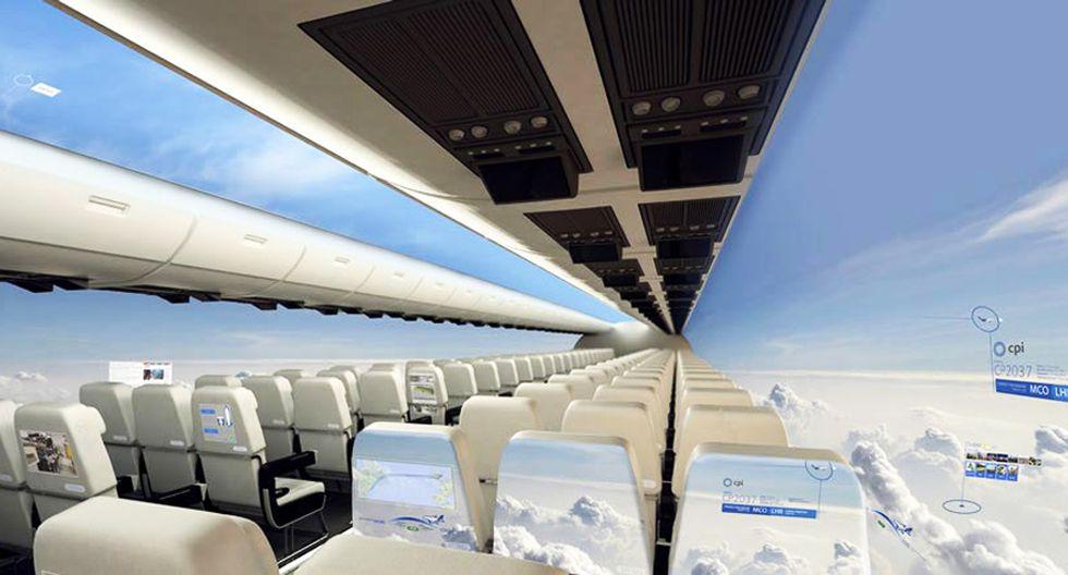 Avión futurista permitirá apreciar vistas panorámicas - 1