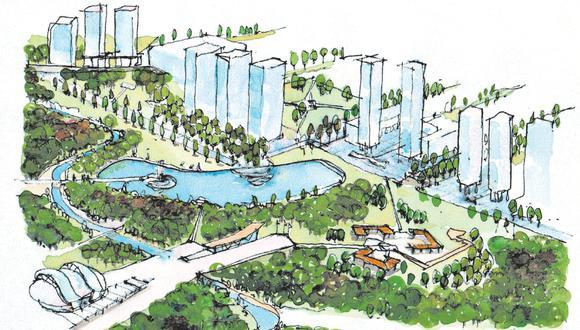 El arquitecto Jorge Ruiz de Somocurcio propone construir el parque Bicentenario en los terrenos de la base aérea. El proyecto incluye un jardín botánico, centros de convenciones, campo ferial y lagunas. (Imagen: Alfonso Huamaní)