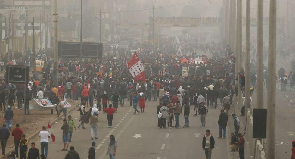 Marcha contra peajes en Puente Piedra. (Foto: GEC)
