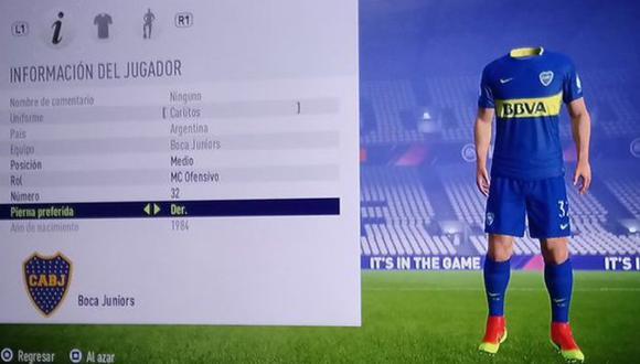 Perfil de Carlos Tevez en FIFA 18. (Foto: Twitter: @juanqui_17)