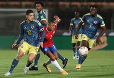 Chile igualó 2-2 ante Colombia por Eliminatorias Qatar 2022