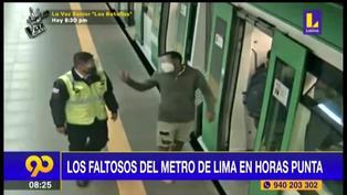 Pasajeros no cumplen medidas sanitarias y agreden a supervisores del Metro de Lima