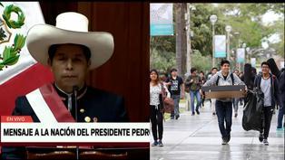 """Pedro Castillo: """"Impulsaremos el ingreso libre a las universidades"""""""