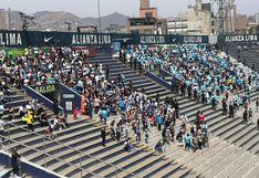 Alianza Lima vs. Sporting Cristal: hinchas rimenses compartieron tribuna norte con aliancistas