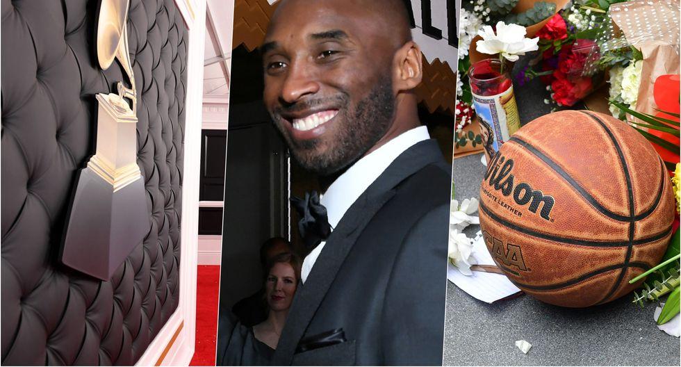 La muerte de Kobe Bryant sorprendió a los asistentes a la alfombra roja del Grammy en el Staples Center, hogar del equipo Los Angeles Lakers. Fotos: AFP.