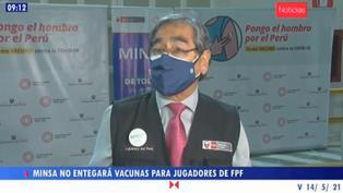 Minsa descarta vacunar a Selección Peruana de Fútbol