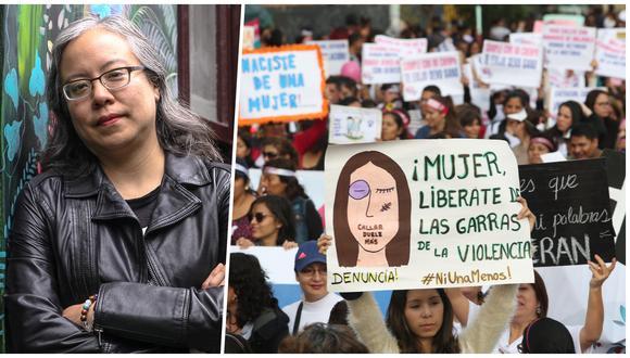 """En los últimos cinco años, el movimiento feminista ha cobrado fuerza en América Latina. En el libro """"Pachakuti feminista"""", la escritora peruana Claudia Salazar convoca a diferentes autoras locales para reflexionar –desde el activismo, la creación, la historia o el derecho– sobre su rol como mujeres. A la derecha, la marcha #NiUnaMenos desarrollada el 13 de agosto del 2016 en Lima, Perú. Fotos: Archivo de El Comercio."""