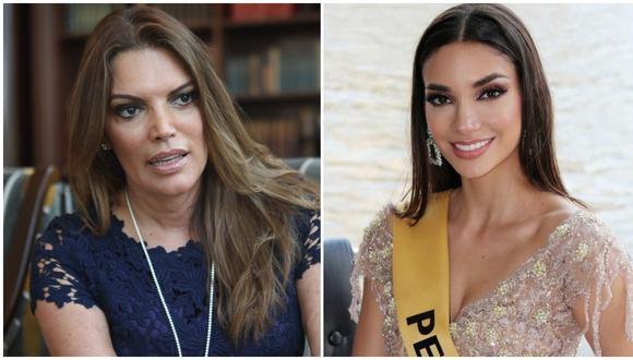 Jessica Newton, directora de Miss Perú, separó a Maricielo Gamarra de la corona de representante local de Miss Grand Internacional. Fotos: Lucero del Castillo para El Comercio/ @maricielo.gam en Instagram.