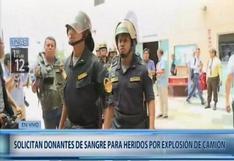 Incendio en Villa El Salvador: 80 policías donan sangre para personas afectadas por el fuego | VIDEO