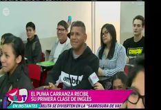 EBT: El 'Puma' Carranza y su divertido manejo del idioma inglés
