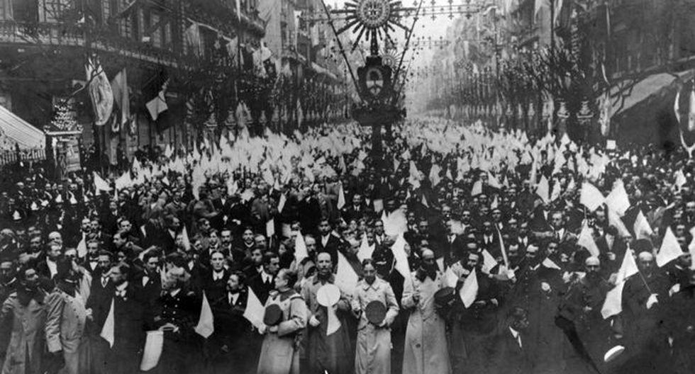 Entre banquetes, discursos y exposiciones pasó Georges Clemenceau sus días en Buenos Aires. (Archivo General de la Nación Argentina, Documentos vía BBC)