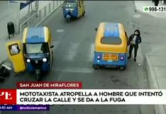 San Juan de Miraflores: mototaxista atropella a hombre y se da a la fuga