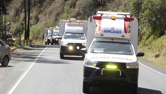 Áncash: llegan 10 ambulancias para fortalecer redes y establecimientos de salud por COVID-19
