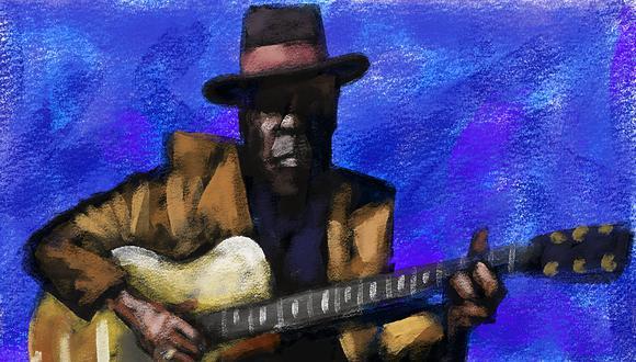 John Lee Hooker (Ilustración: Víctor Aguilar)