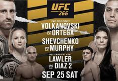 UFC 266 Volkanovski vs Ortega: ver Star+ HD, resultados, apuestas y cartelera del evento