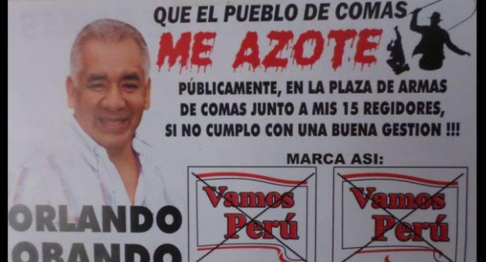 Candidato pide que lo azoten si no cumple promesas de campaña