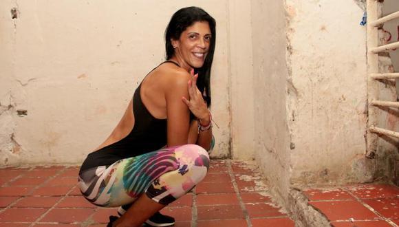 Liliana del Carmen permanece recluida en la cárcel de San Diego, en Cartagena, donde hace ejercicio para mantenerse en forma. Foto: El Tiempo de Colombia/ GDA