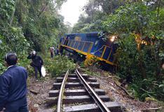 Cusco: tren de PeruRail que trasladaba 10 pasajeros se descarrila por caída de piedras en vía férrea